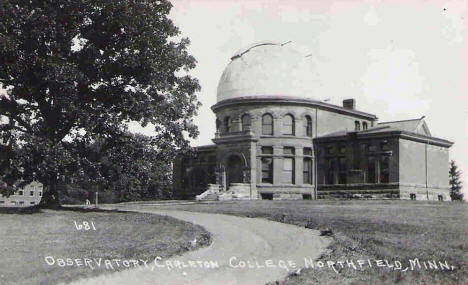 Observatory, Carleton College, Northfield Minnesota, 1950's
