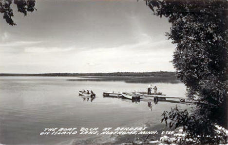 The Boat Dock at Bender's on Island Lake, Northome Minnesota, 1953