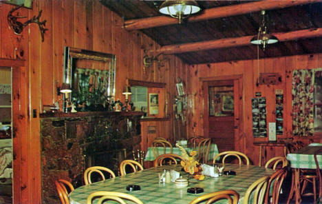 Interior, Bender's Fishing Camp, Northome Minnesota, 1950's