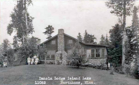 Danola Lodge on Island Lake, Northome Minnesota, 1920's