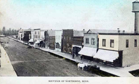 Main Street, Northome Minnesota, 1915