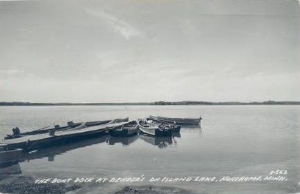 The Boat Dock at Bender's on Island Lake, Northome Minnesota, 1955