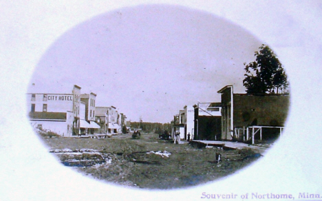 Main Street, Northome Minnesota, 1908
