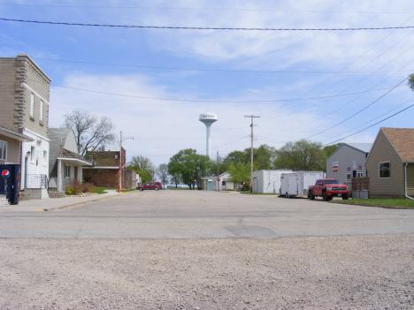 Street scene, Northrop Minnesota, 2014