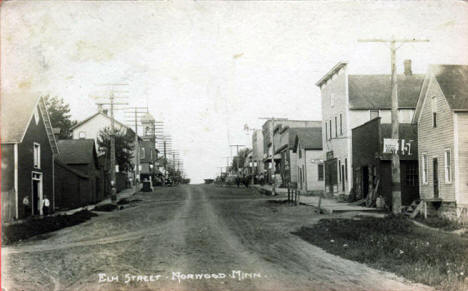 Elm Street, Norwood Minnesota, 1922