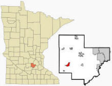 Location of Norwood Young America, Minnesota