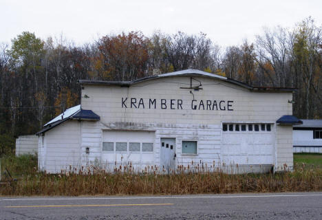 Former Kramber Garage building in McGrath Minnesota, 2007