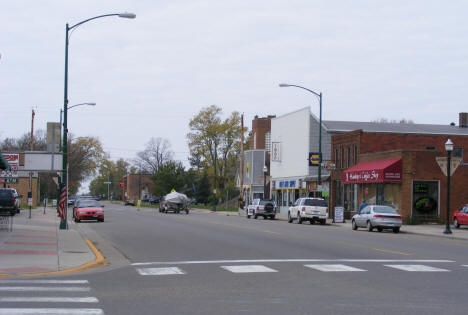 Street view, 2nd Street NW from Minnesota Avenue, Aitkin Minnesota, 2007