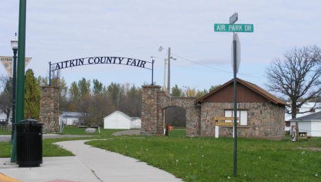 Entrance to the Aitkin County Fairgrounds in Aitkin Minnesota, 2007