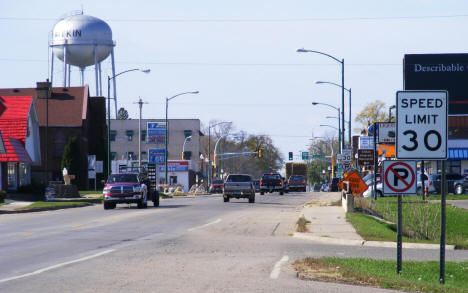 Street View, 2nd Street NE looking towards Downtown Aitkin Minnesota, 2007