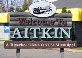 Aitkin Minnesota Welcome Sign