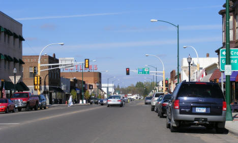 View of Minnesota Avenue in Downtown Aitkin Minnesota, 2007