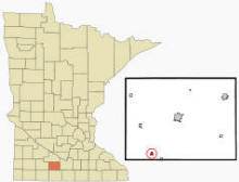 Location of Odin, Minnesota