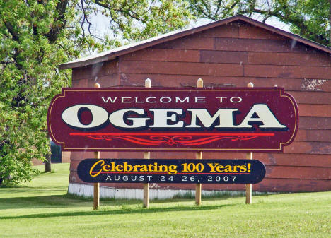 Ogema Minnesota Welcome Sign, 2008