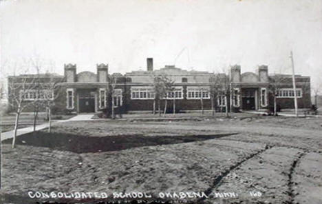 Consolidated School, Okabena Minnesota, 1922
