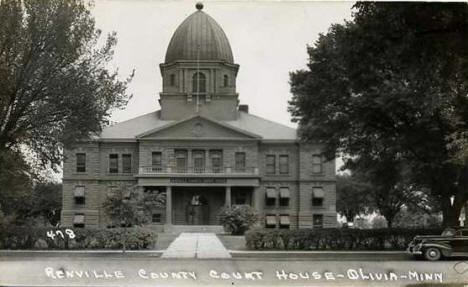 Renville County Courthouse, Olivia Minnesota, 1940's