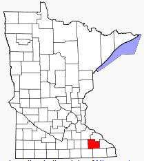 Location of Olmsted County Minnesota