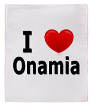 I Love Onamia Stadium Blanket