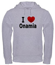 I Love Onamia Hooded Sweatshirt
