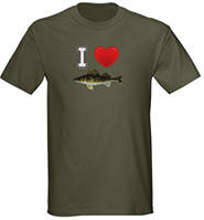 I Love Walleye Dark T-Shirt