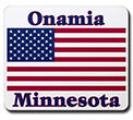 Onamia US Flag Mousepad