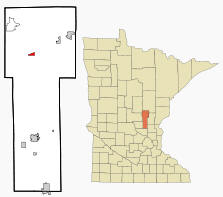 Location of Onamia, Minnesota
