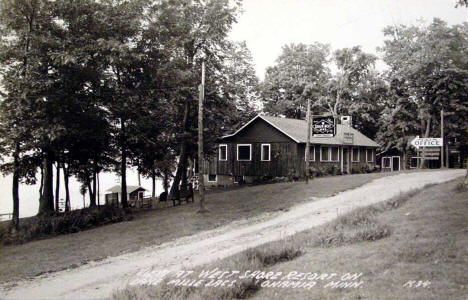 View at West Shore Resort on Lake Mille Lacs, Onamia Minnesota, 1939