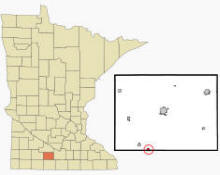 Location of Ormsby, Minnesota