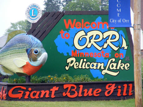 Welcome Sign, Orr Minnesota, 2007