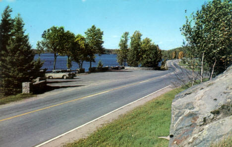 Rest Stop on Highway 53 by Pelican Lake, Orr Minnesota, around 1960