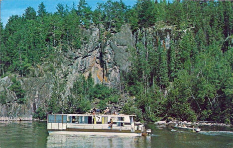 Houseboat on the Ash River, Orr Minnesota, 1970's
