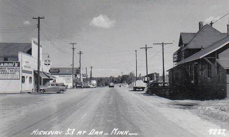 Highway 53 in Orr Minnesota, 1954