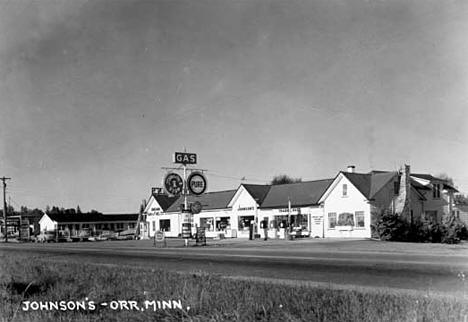 Johnson's Trading Post, Orr Minnesota, 1952