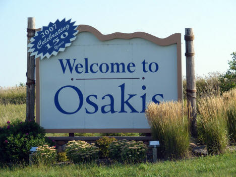 Osakis Welcome Sign, Osakis Minnesota, 2008