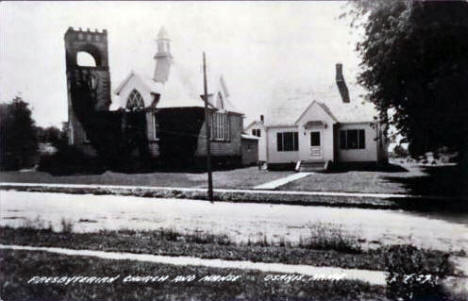 Presbyterian Church and Manse, Osakis Minnesota, 1940's
