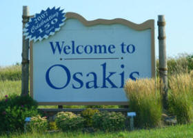 Osakis Welcome Sign