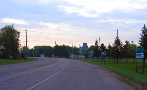 Entering Oslo Minnesota from the west, 2008