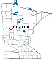 Location of Ottertail Minnesota