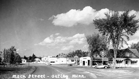 Main Street, Outing Minnesota, 1960