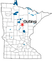 Location of Outing Minnesota
