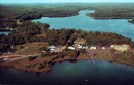Aerial view, Outing Minnesota, 1965