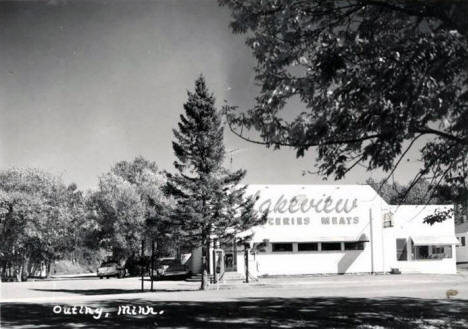 Lakeview Groceries and Meat, Outing Minnesota, 1950's