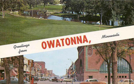 Greetings from Owatonna Minnesota, 1950's