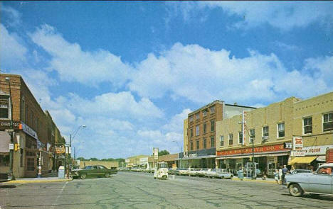 Broadway and Cedar Street, Owatonna Minnesota, 1960's