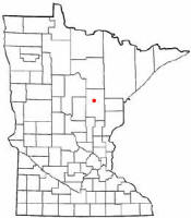 Location of Palisade Minnesota