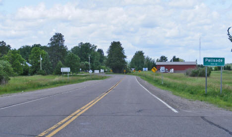 Entering Palisade Minnesota on State Highway 232, 2009