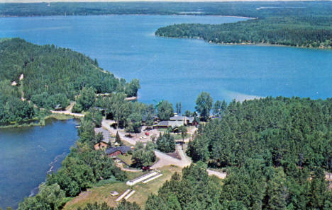Pine Cone Lodge on Big Sand Lake, Park Rapids Minnesota, 1964