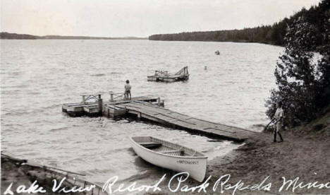 Lake View Resort, Park Rapids Minnesota, 1939