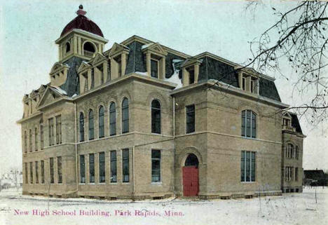 New High School Building, Park Rapids Minnesota, 1908