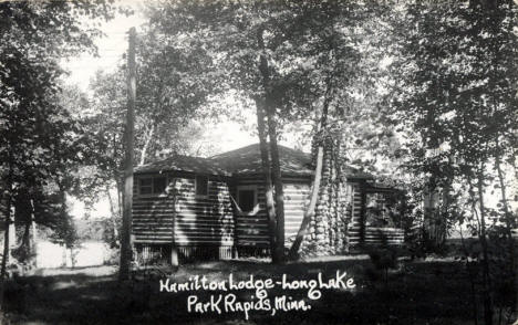 Hamilton Lodge on Long Lake, Park Rapids Minnesota, 1940's